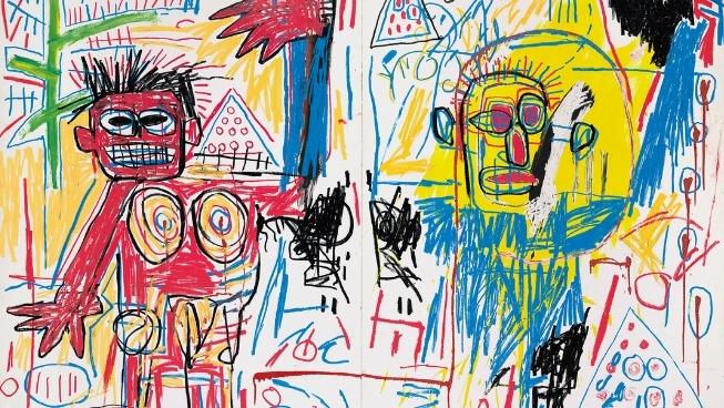 Jean-Michel Basquiat - Sans titre, 1982 ‒ acrylique et crayon gras sur bois