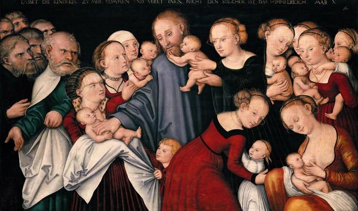 Le Christ bénissant les enfants de Lucas Cranach The Younger
