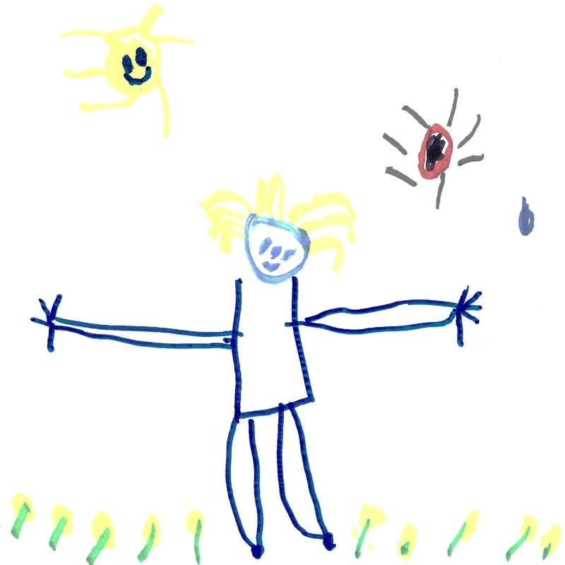 dessin d'un enfant de 4 ans et 10 mois