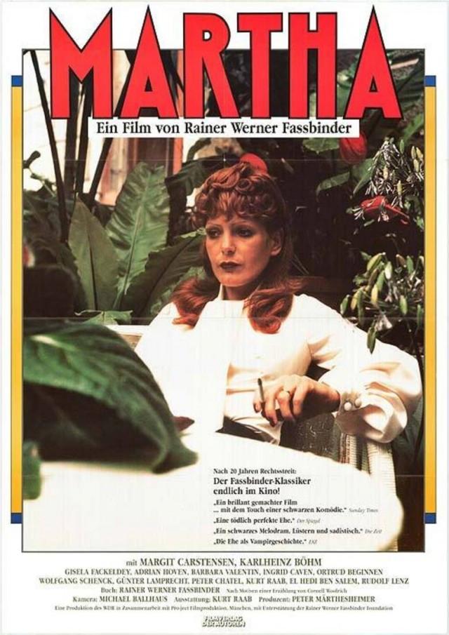 Filmographie : Martha de Fassbinder